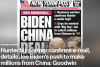 A screen capture of the lead story in Thursday's New York Post.
