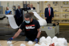 President Trump tours a Honeywell International Inc. factory producing N95 masks, May 5, 2020. (Photo by BRENDAN SMIALOWSKI/AFP via Getty Images)