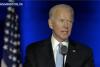 Joe Biden speaking in Wilmington, Del., after interrupting the Clemson-Notre Dame game. (Screen Capture)