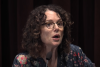 """Robin DiAngelo gives a speech on """"white fragility."""" (Photo credit: YouTube/Seattle Channel)"""