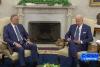 President Joe Biden reads remarks at a photo op with Iraqi Prime Minister Mustafa Al-Kadhimi on July 26. (Photo: Screen shot)