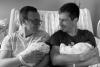 """Pete Buttigieg and """"husband"""" Chasten Buttigieg pose with two adopted children. (Photo credit: Twitter/Pete Buttigieg)"""