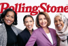 """Rolling Stone features Reps. Jahana Hayes (D-CT) Alexandria Ocasio-Cortez (D-NY), Nancy Pelosi (D-CA), and Ilhan Omar (D-MN) on the cover of its March 2019 """"Women Shaping the Future"""" issue. (Photo credit: Twitter/HillaryFan420)"""