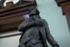 Featured is the Thomas Jefferson statue in New York's City Hall's council chamber. (Photo credit: YouTube/CBS New York)
