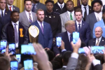 President Trump welcome the champion LSU Tigers to the White House. (Screen capture)
