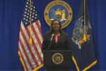 New York Attorney General Letitia James announces her lawsuit intended to shut down the NRA. (Photo: Screen capture)