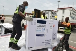 Doses of the COVAX-financed AstraZeneca COVID-19 vaccine arrive in Abidjan, Cote d'Ivoire. (Photo by Sia Kambou/AFP via Getty Images)