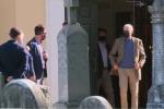 A masked President Joe Biden leaves church in Delaware on Sunday. (Photo: Screen capture)