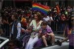 Speaker Nancy Pelois in the San Francisco Pride Celebration & Parade, June 28, 2015. (Photo by Rick Loomis/Los Angeles Times via Getty Images)
