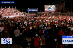 A large crowd turns out to hear Donald Trump's warning about the leftist Democrat agenda on Oct. 9, 2021 in Des Moines. (Photo: Screen capture/CSPAN)