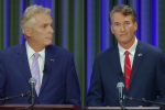 Democrat Terry McAuliffe and Republican Glenn Youngkin engage in one of their recent gubernatorial debates. (Photo: Screen shot)