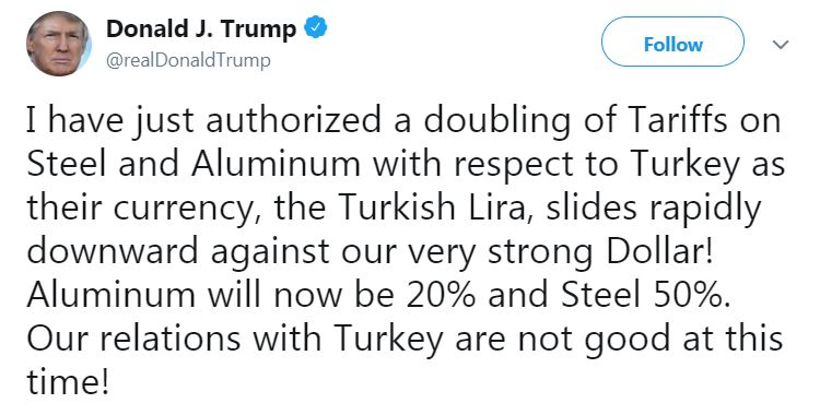 Trump Türkei Tweet