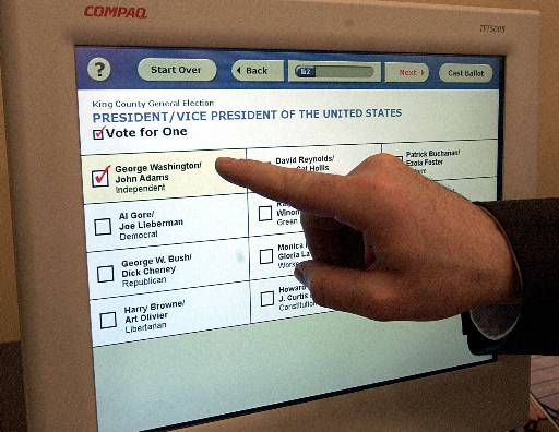 how to use electronic voting machine