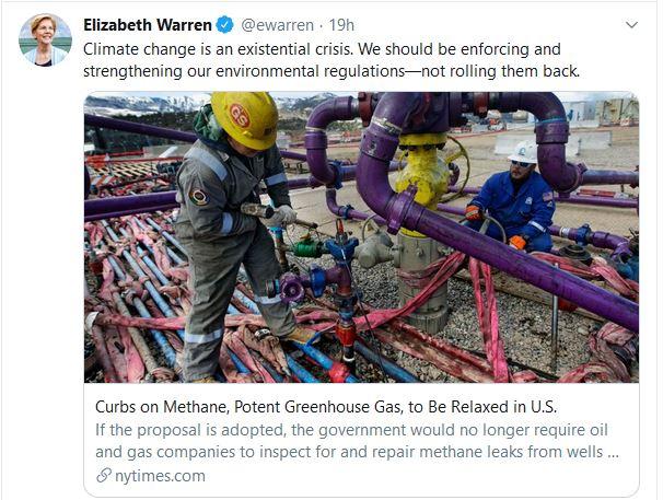 Elizabeth Warren: 'Climate Change is an Existential Crisis'
